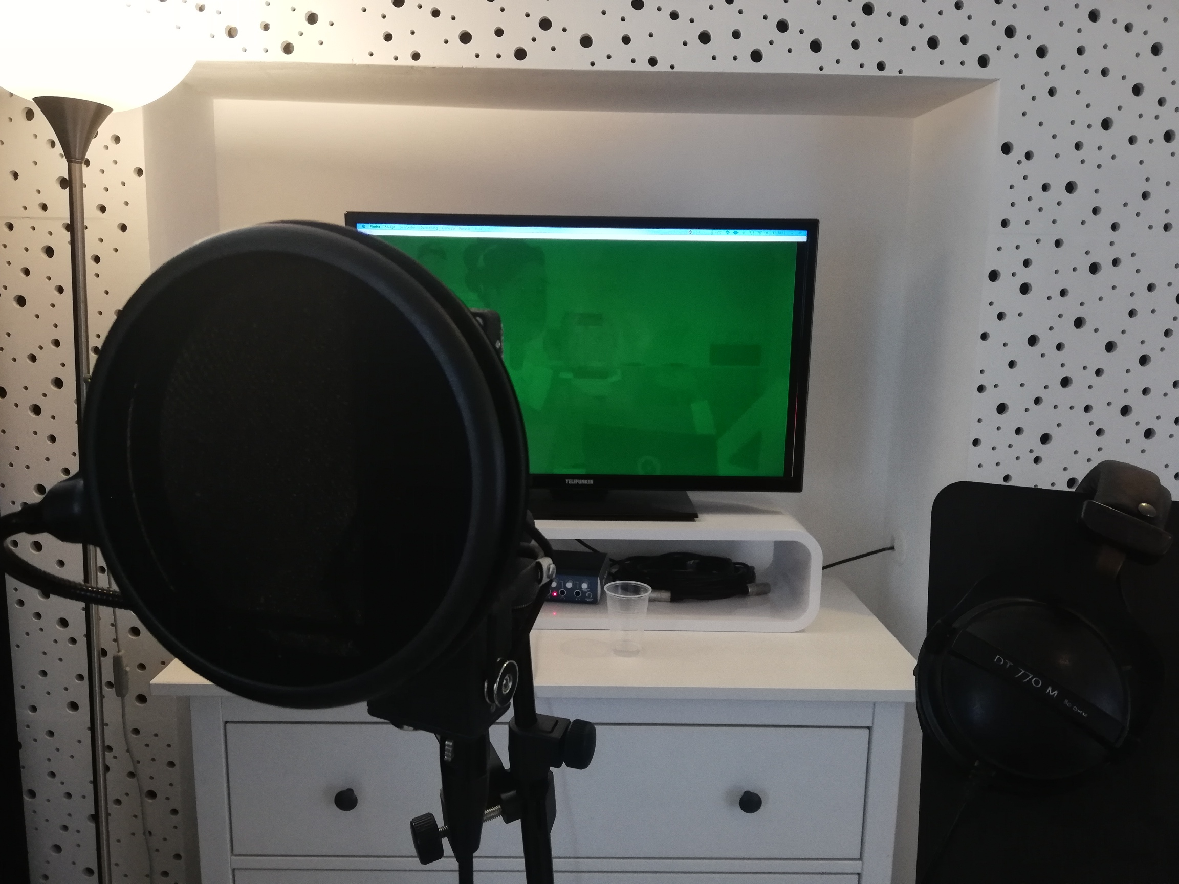In the studio at MEDIA FABRIK